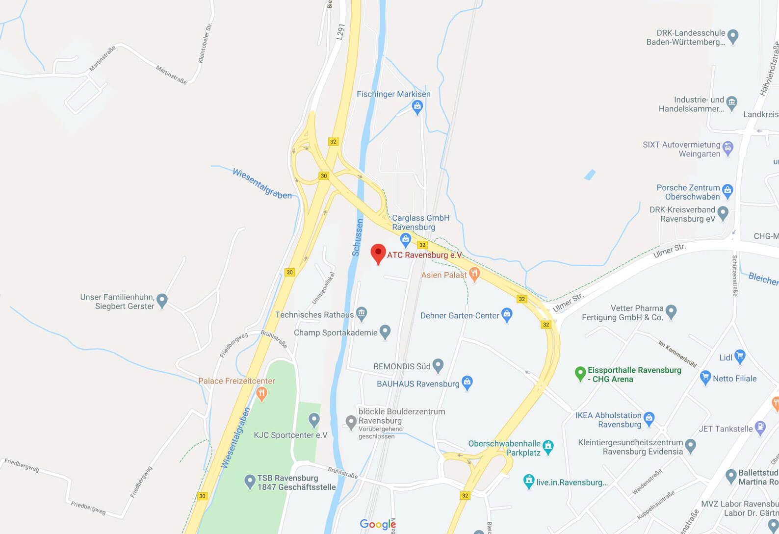 Karte ATC Ravensburg