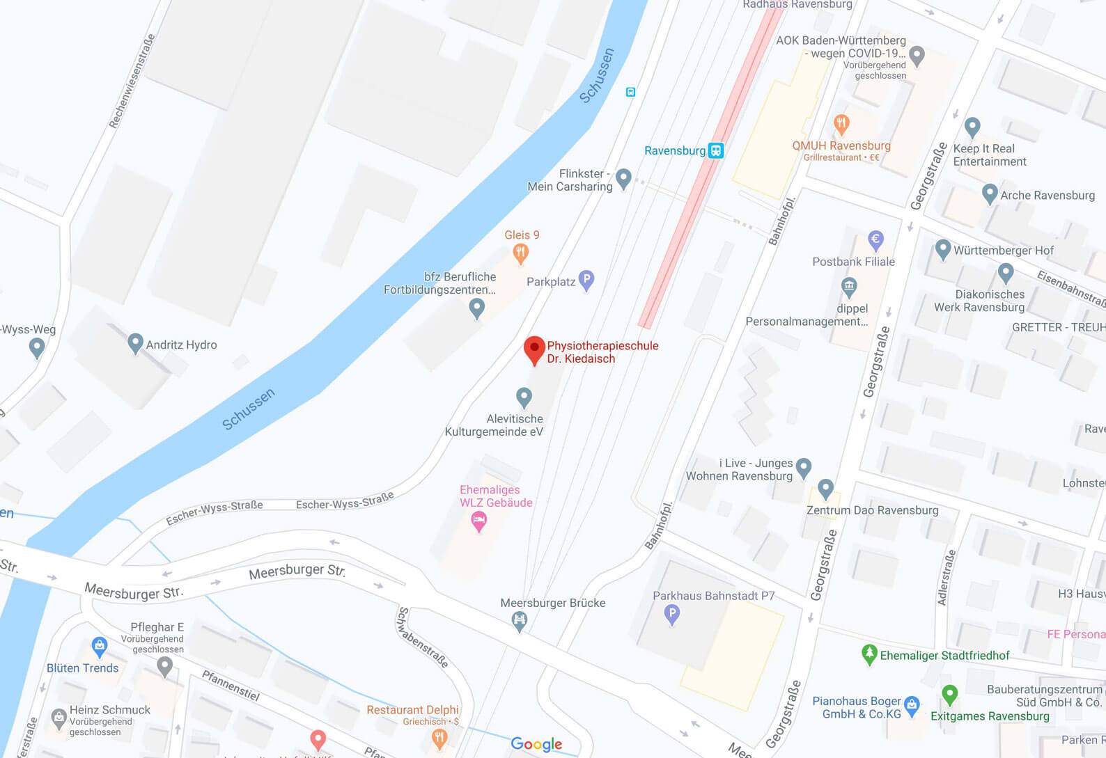 Karte Kiedaischschule Ravensburg