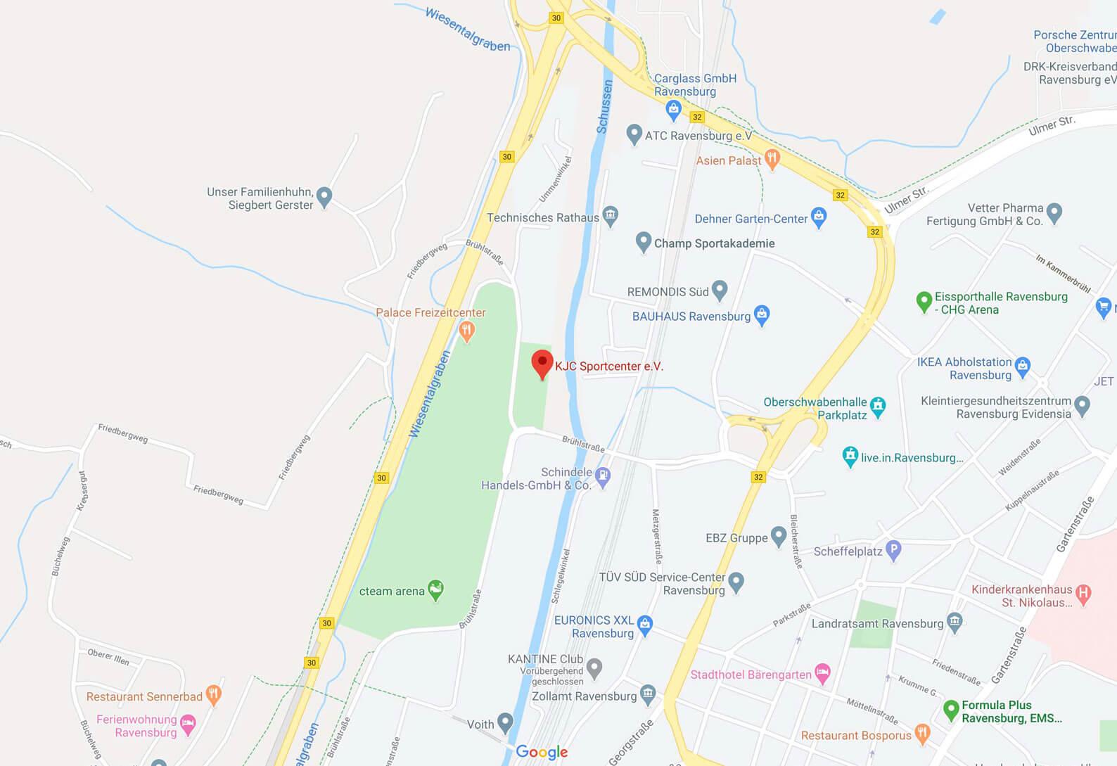 Karte KJC Ravensburg